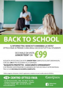 Back to School! Offerta occhiali Junior Teen con Ottica Fava Roma