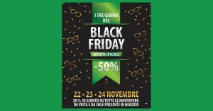 black friday occhiali