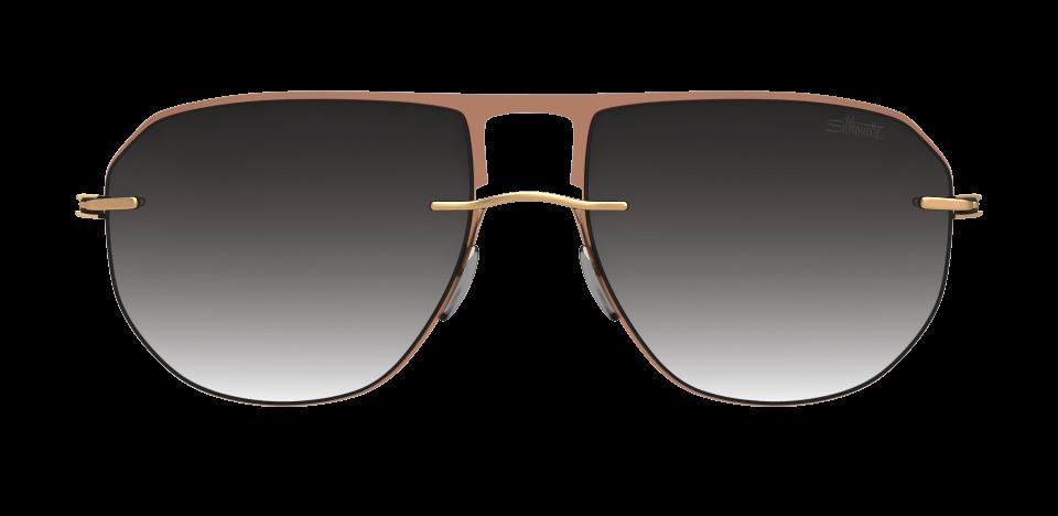Occhiali Silhouette 2019 Accent Shades Aviator 6040 Classi Grey Gradient
