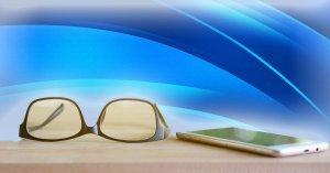 luce blu occhiali